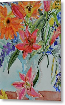 Metal Print featuring the painting Uncontainable by Beverley Harper Tinsley