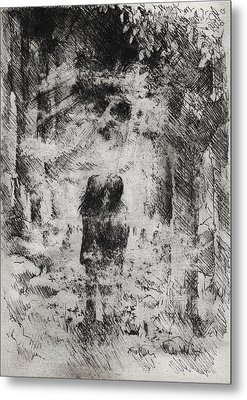 Under A March Moon Metal Print by Rachel Christine Nowicki