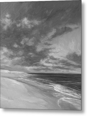 Under A Painted Sky - Black And White Metal Print