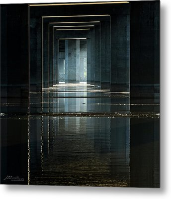 Under Clark Bridge Metal Print by Jae Mishra