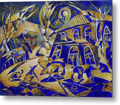 Under Gold Light Metal Print by Andrey Soldatenko