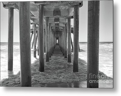 Metal Print featuring the photograph Under Huntington Beach Pier by Ana V Ramirez