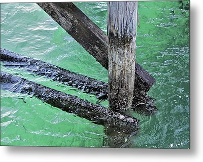Metal Print featuring the photograph Under The Boardwalk by Stephen Mitchell