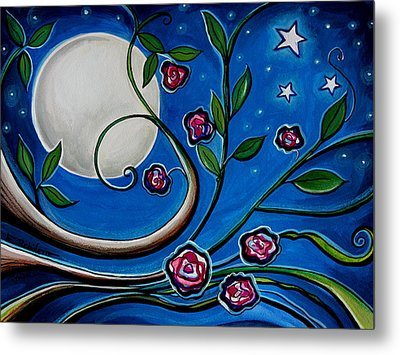 Under The Glowing Moon Metal Print