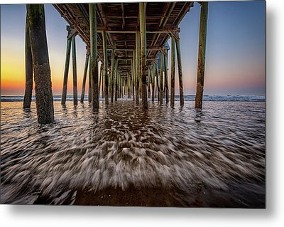 Under The Pier At Old Orchard Beach Metal Print