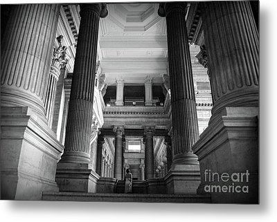 Metal Print featuring the photograph Under The Scaffolding Of The Palace Of Justice - Brussels by RicardMN Photography