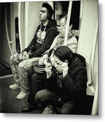 Underground Rimmel #blackandwhite Metal Print
