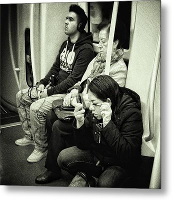 Underground Rimmel #blackandwhite Metal Print by Rafa Rivas