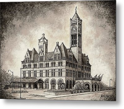 Union Station Mixed Media Metal Print