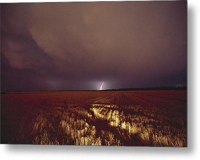 United States, Kansas, Lightning Metal Print by Keenpress