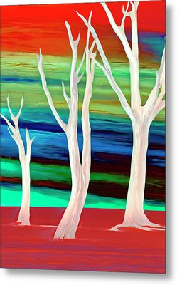 Metal Print featuring the photograph United Trees by Munir Alawi