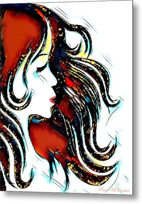 Metal Print featuring the digital art Unrestricted-abstract by Pennie McCracken