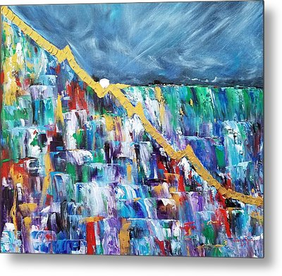 Metal Print featuring the painting Untitled by Judith Rhue