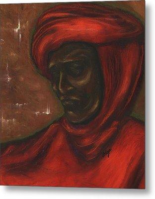 Metal Print featuring the pastel Untitled Man by Alga Washington