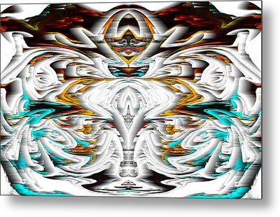 Metal Print featuring the digital art Untitled Series 992.042212 by Kris Haas