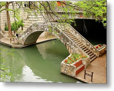 Metal Print featuring the photograph Up And Over - San Antonio River Walk by Art Block Collections