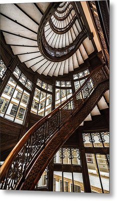 Up The Iconic Rookery Building Staircase Metal Print
