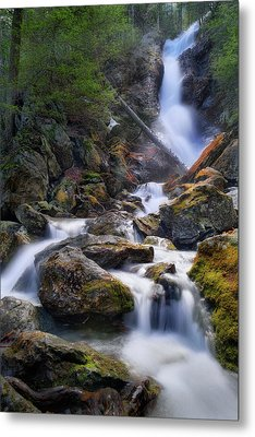 Metal Print featuring the photograph Upper Race Brook Falls 2017 by Bill Wakeley