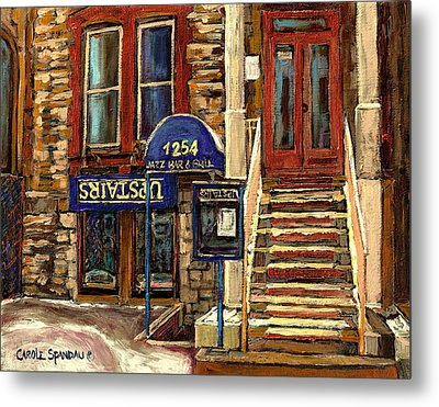 Upstairs Jazz Bar And Grill Montreal Metal Print