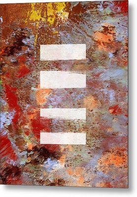 Urban Abstract- Art By Linda Woods Metal Print
