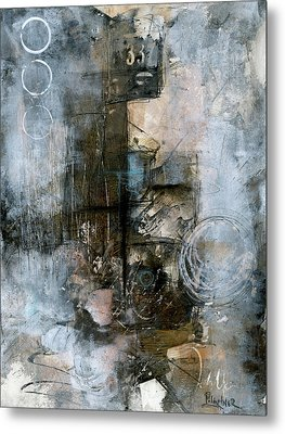 Urban Abstract Cool Tones Metal Print