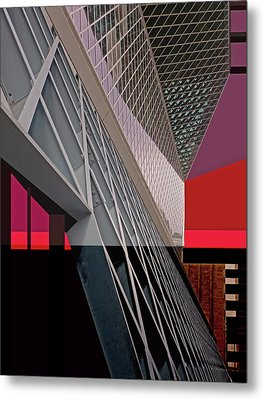 Metal Print featuring the digital art Urban Sunset by Walter Fahmy
