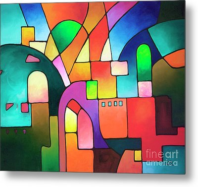 Urbanity Metal Print by Sally Trace