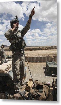 U.s. Air Force Member Calls For Air Metal Print by Stocktrek Images