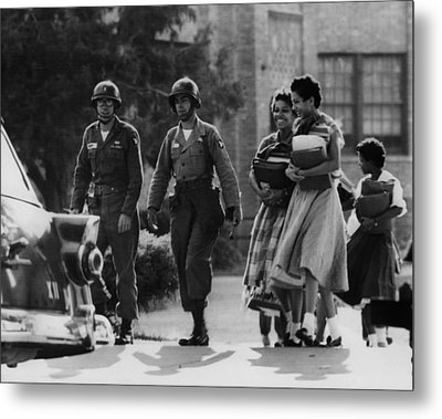 Us Civil Rights. Paratroopers Metal Print by Everett