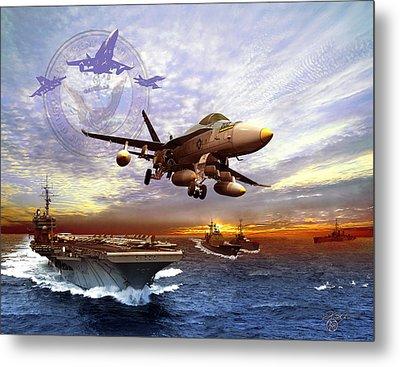 U.s. Navy Metal Print by Kurt Miller