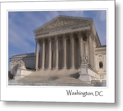 Us Supreme Court Building In Washington Dc Metal Print