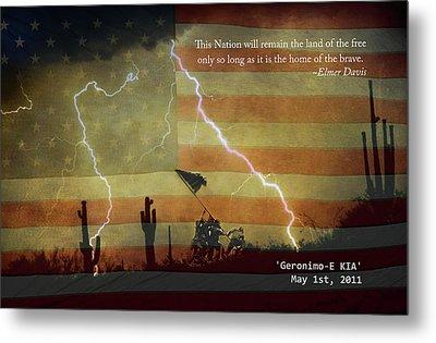 Usa Patriotic Operation Geronimo-e Kia Metal Print by James BO  Insogna