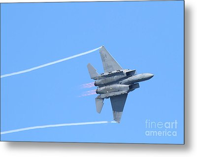 Usaf F-15 Strike Eagle . 7d7864 Metal Print by Wingsdomain Art and Photography