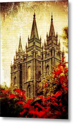 Use It Vintage Temple Metal Print by La Rae  Roberts