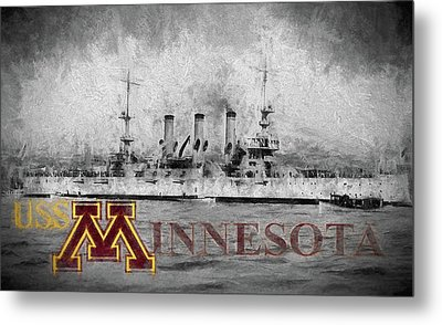 Uss Minnesota Metal Print by JC Findley
