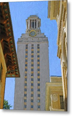 Ut University Of Texas Tower Austin Texas Metal Print by Jeff Steed
