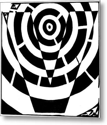 V Maze Metal Print by Yonatan Frimer Maze Artist