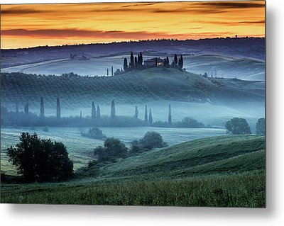 Val D'orcia Metal Print by Evgeni Dinev
