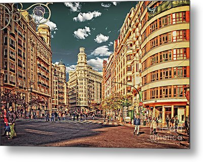 Valencia - Sunday Morning After Christmas  Metal Print
