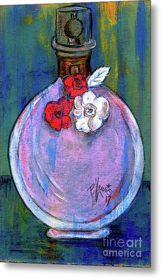 Metal Print featuring the painting Valentina by P J Lewis