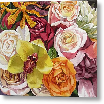 Valentine Bouquet Metal Print by Alfred Ng