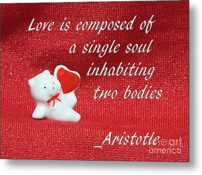 Metal Print featuring the photograph Valentine By Aristotle by Linda Phelps