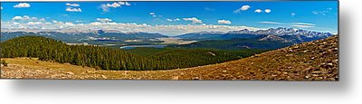 Valley Of 14ers Panorama Metal Print by Jeremy Rhoades