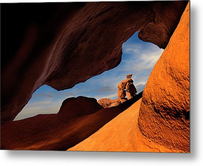 Valley Of Fire Look Through Metal Print