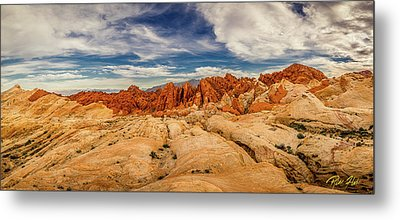 Metal Print featuring the photograph Valley Of Fire Panorama by Rikk Flohr