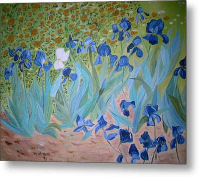 Van Gogh Iris By Alanna Metal Print by Alanna Hug-McAnnally