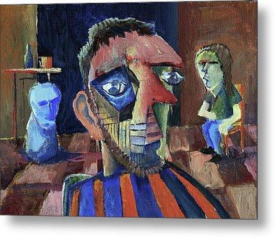 Van Gogh's Therapy Session Metal Print by Paul  Van Atta