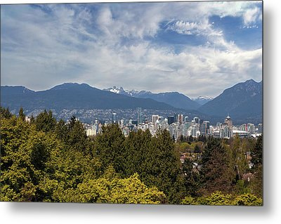 Vancouver Bc Skyline Daytime View Metal Print by David Gn