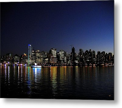 Vancouver Night Lights Metal Print by Will Borden