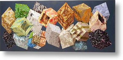 Variations In Stone Metal Print by M Jaquis
